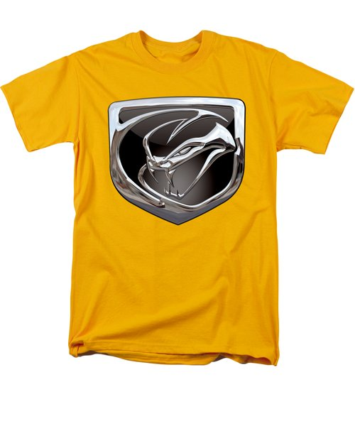 Dodge Viper 3 D  Badge Special Edition On Yellow Men's T-Shirt  (Regular Fit)