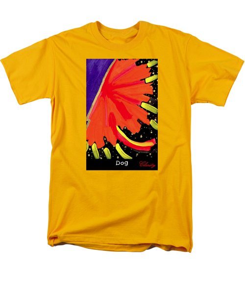 Men's T-Shirt  (Regular Fit) featuring the painting Dog by Clarity Artists