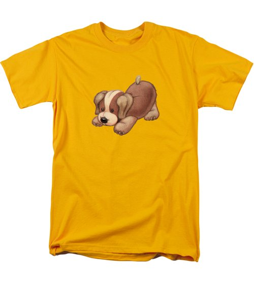 Dog Pounce Men's T-Shirt  (Regular Fit) by Andy Catling