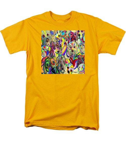 Dogs Dogs Dogs Men's T-Shirt  (Regular Fit) by Eloise Schneider