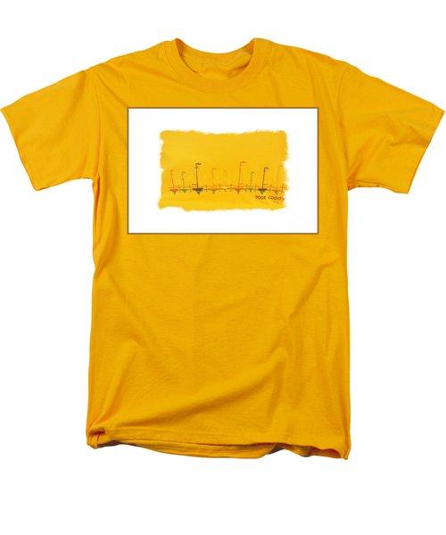 Men's T-Shirt  (Regular Fit) featuring the mixed media Door County Sail Boats by Marsha Heiken