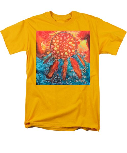 Men's T-Shirt  (Regular Fit) featuring the painting Dream Catcher by Nancy Jolley