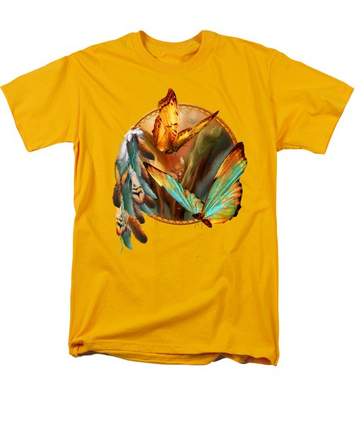 Dream Catcher - Spirit Of The Butterfly Men's T-Shirt  (Regular Fit) by Carol Cavalaris