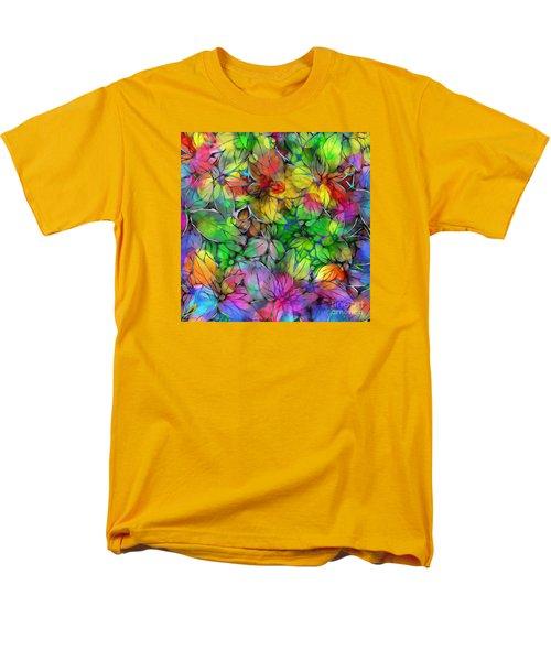 Men's T-Shirt  (Regular Fit) featuring the digital art Dream Colored Leaves by Klara Acel