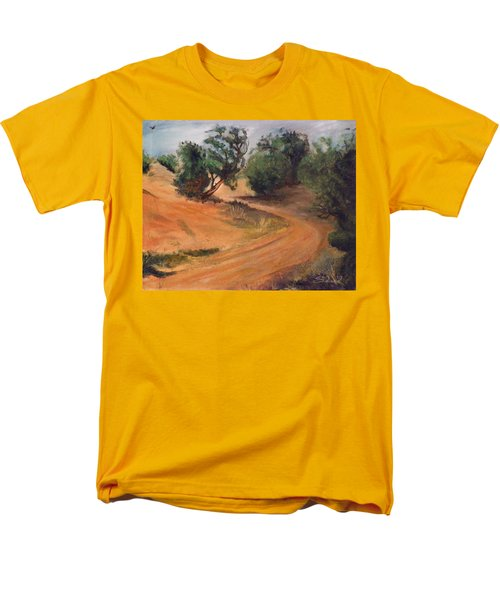 Men's T-Shirt  (Regular Fit) featuring the painting Dry Wash Road by Sherril Porter