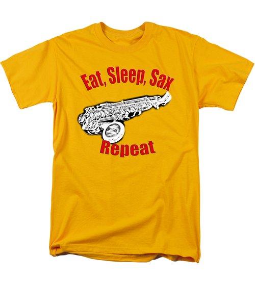 Eat Sleep Sax Repeat Men's T-Shirt  (Regular Fit) by M K  Miller