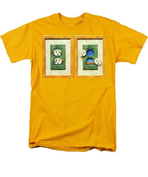 Electric View Miniature Shown Closed And Open Men's T-Shirt  (Regular Fit)