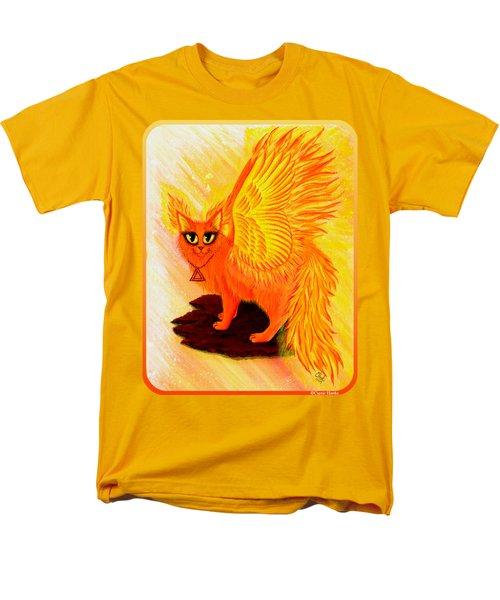 Elemental Fire Fairy Cat Men's T-Shirt  (Regular Fit) by Carrie Hawks