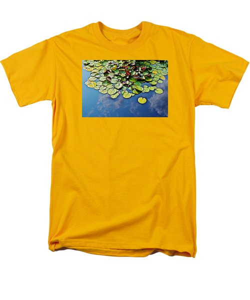 End Of July Water Lilies In The Clouds Men's T-Shirt  (Regular Fit) by Janis Nussbaum Senungetuk