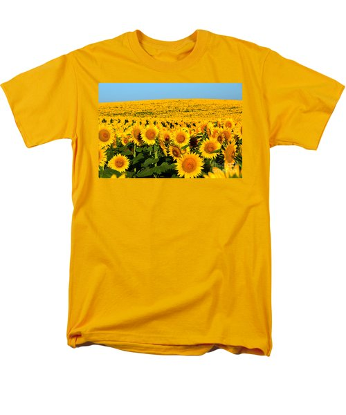 Endless Sunflowers Men's T-Shirt  (Regular Fit) by Catherine Sherman