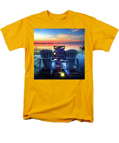 Men's T-Shirt  (Regular Fit) featuring the photograph Evening Romance by Debra and Dave Vanderlaan