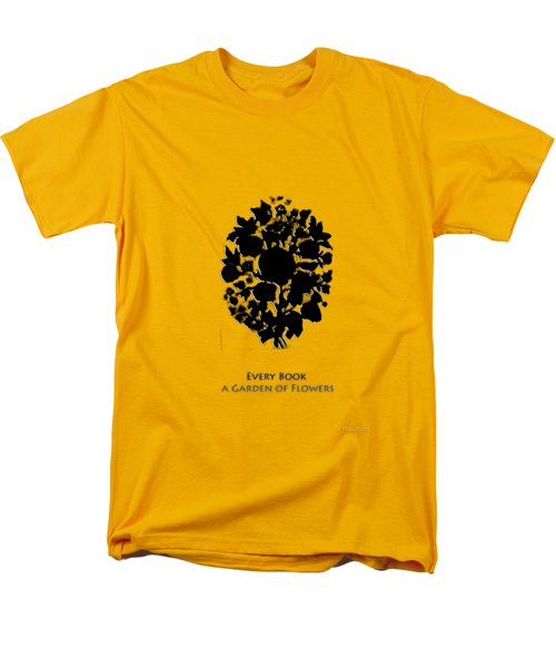 Men's T-Shirt  (Regular Fit) featuring the digital art Every Book A Garden by Asok Mukhopadhyay
