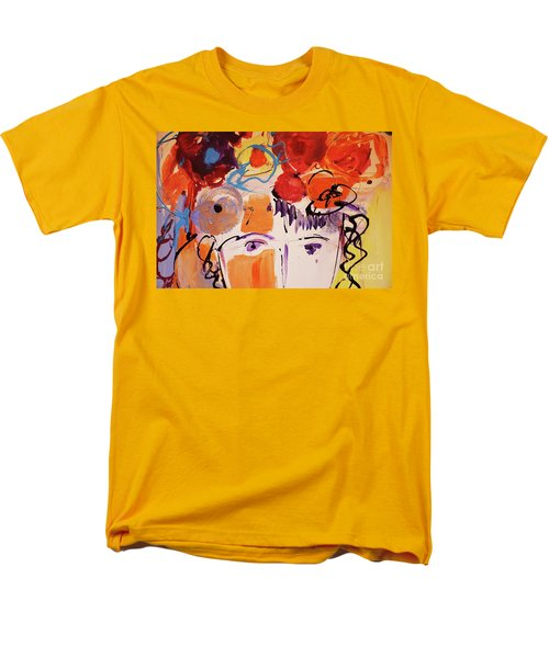 Eyes And Flowers Men's T-Shirt  (Regular Fit) by Amara Dacer