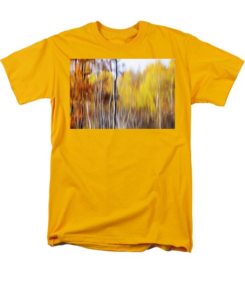 Men's T-Shirt  (Regular Fit) featuring the photograph Fall Abstract by Mircea Costina Photography