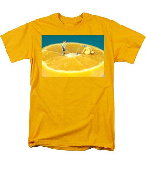 Farmers On Orange Men's T-Shirt  (Regular Fit) by Paul Ge