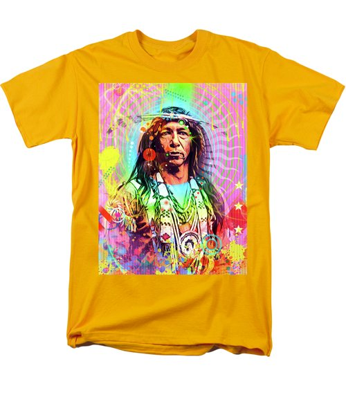Feather Chief Men's T-Shirt  (Regular Fit) by Gary Grayson