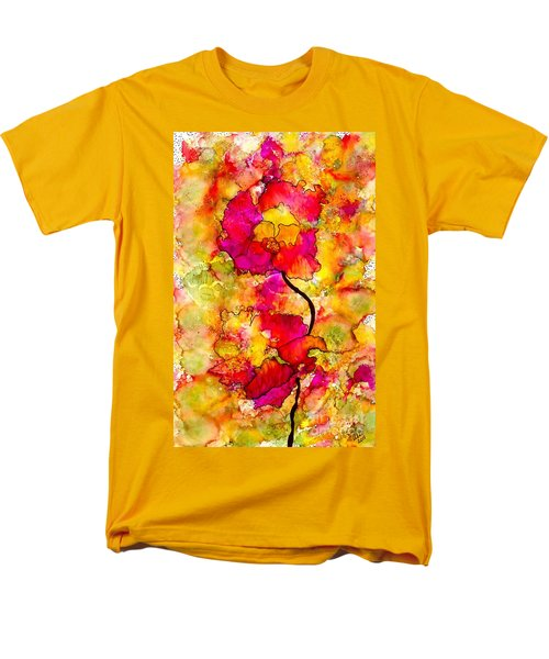 Men's T-Shirt  (Regular Fit) featuring the painting Floral Duet by Angela L Walker
