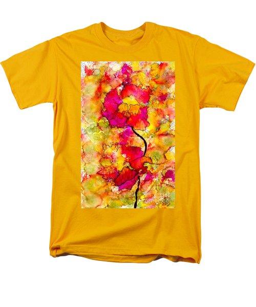 Floral Duet Men's T-Shirt  (Regular Fit) by Angela L Walker