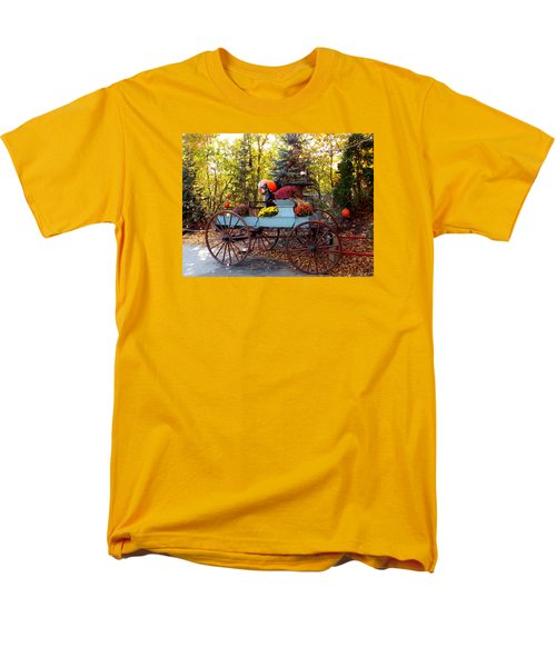 Flower Filled Wagon Men's T-Shirt  (Regular Fit) by Catherine Gagne