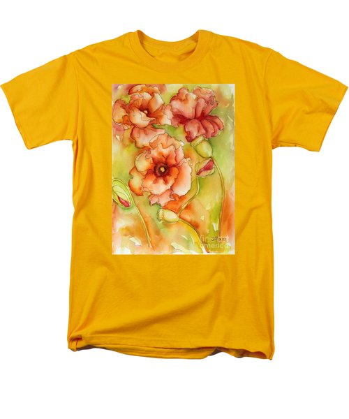 Flying With The Wind Poppies Men's T-Shirt  (Regular Fit) by Inese Poga