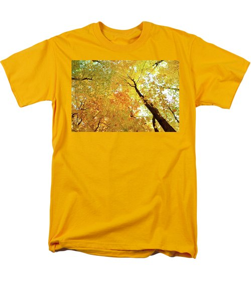 Forest Fall Yellow  Men's T-Shirt  (Regular Fit) by Lyle Crump
