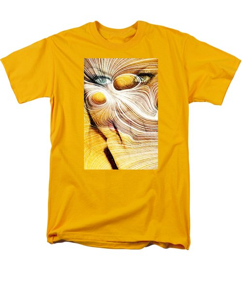 Men's T-Shirt  (Regular Fit) featuring the digital art Four Yellow Eyes by Andrea Barbieri