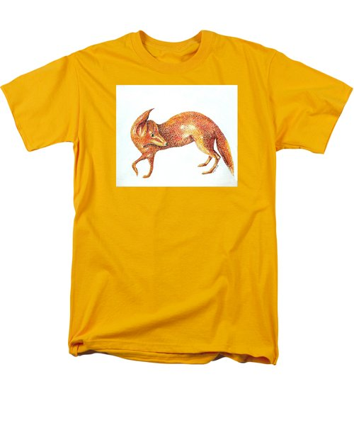 Men's T-Shirt  (Regular Fit) featuring the painting Fox Trot by Tamyra Crossley