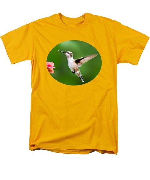 Free As A Bird Hummingbird Men's T-Shirt  (Regular Fit) by Christina Rollo
