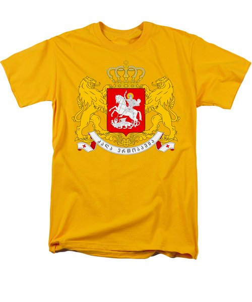Men's T-Shirt  (Regular Fit) featuring the drawing Georgia Coat Of Arms by Movie Poster Prints