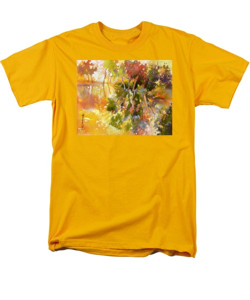 Men's T-Shirt  (Regular Fit) featuring the painting Glow by Rae Andrews