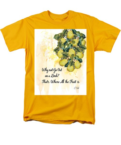 Men's T-Shirt  (Regular Fit) featuring the digital art Go Out On A Limb by Colleen Taylor