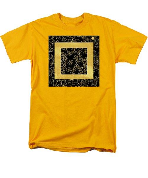 Gold And Black Men's T-Shirt  (Regular Fit)