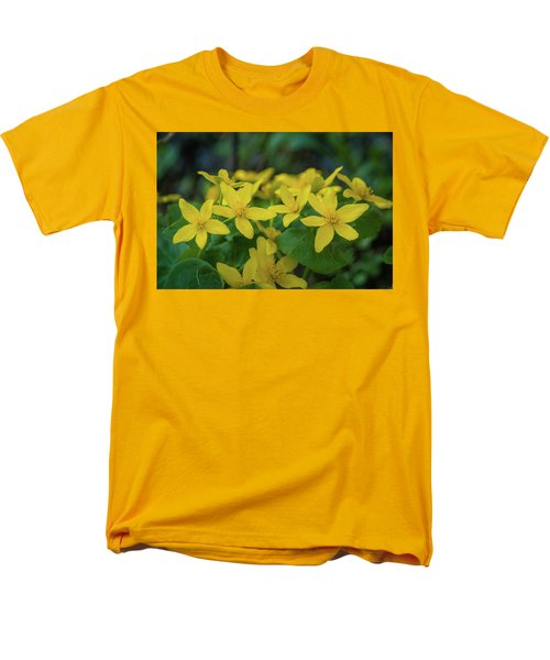 Men's T-Shirt  (Regular Fit) featuring the photograph Gold In The Marsh by Bill Pevlor