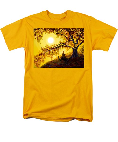 Golden Afternoon Meditation Men's T-Shirt  (Regular Fit) by Laura Iverson
