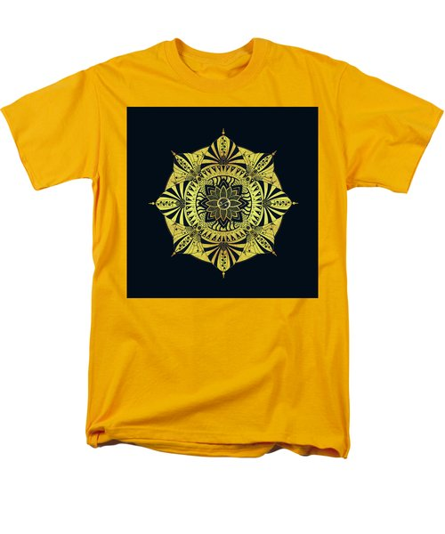 Men's T-Shirt  (Regular Fit) featuring the drawing Golden Geometry by Deborah Smith
