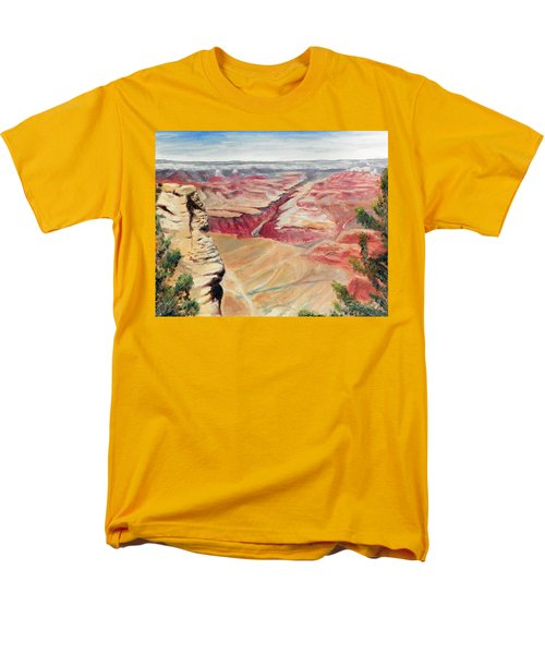 Men's T-Shirt  (Regular Fit) featuring the painting Grand Canyon Overlook by Sherril Porter