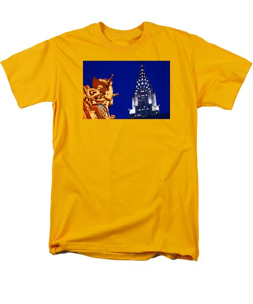 Grand Central Station And Chrysler Building Men's T-Shirt  (Regular Fit) by James Kirkikis