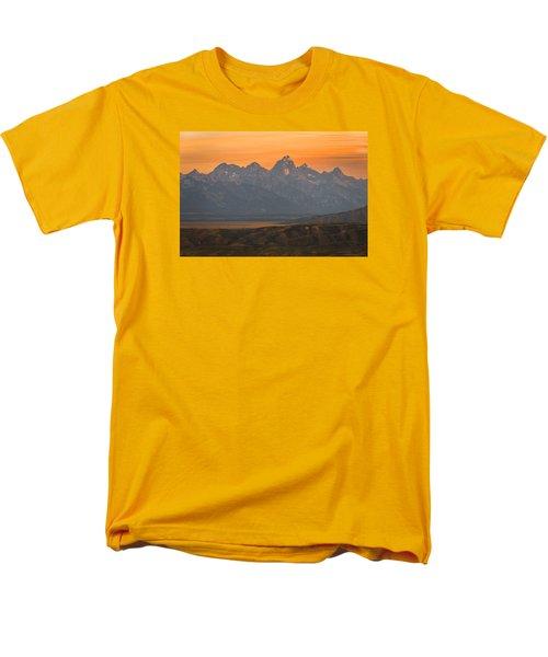 Grand Teton Sunset Men's T-Shirt  (Regular Fit) by Serge Skiba