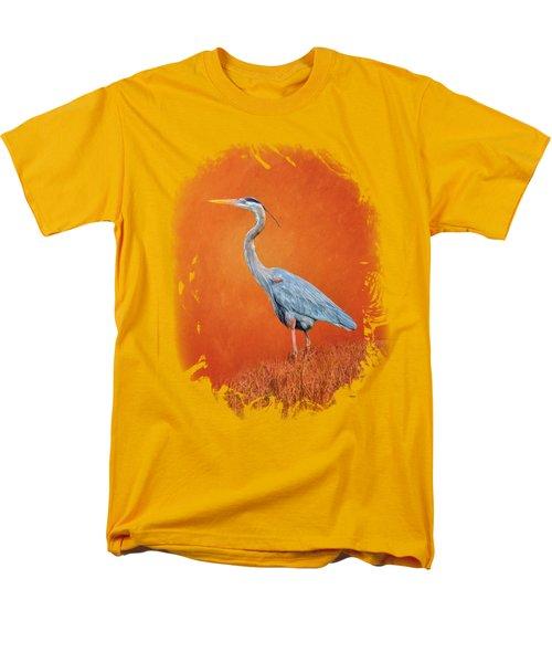Great Blue Abstract 2 Men's T-Shirt  (Regular Fit)