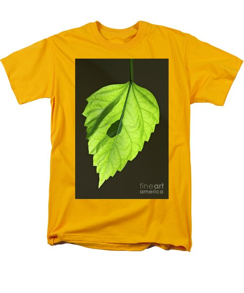 Green Leaf Men's T-Shirt  (Regular Fit) by Tony Cordoza
