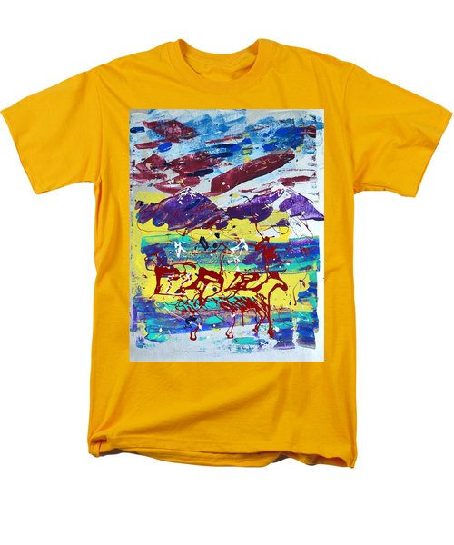 Green Pastures And Purple Mountains Men's T-Shirt  (Regular Fit) by J R Seymour