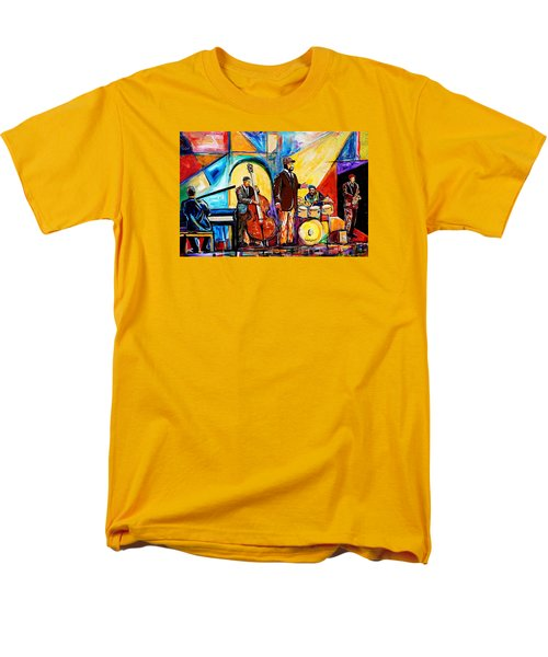 Gregory Porter And Band Men's T-Shirt  (Regular Fit) by Everett Spruill