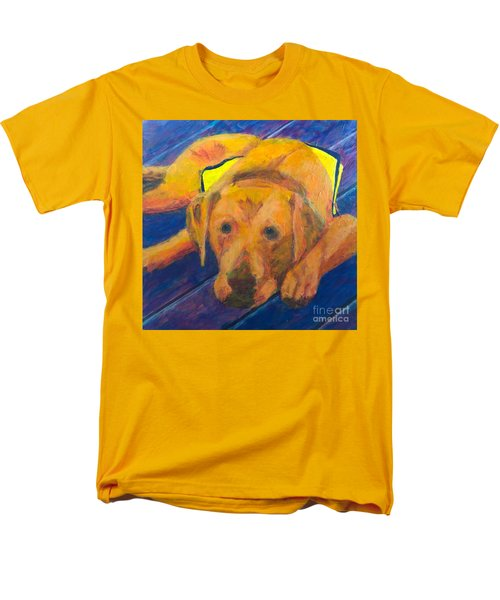 Men's T-Shirt  (Regular Fit) featuring the painting Growing Puppy by Donald J Ryker III