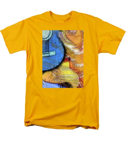 Men's T-Shirt  (Regular Fit) featuring the painting Guitar Music by Allison Ashton