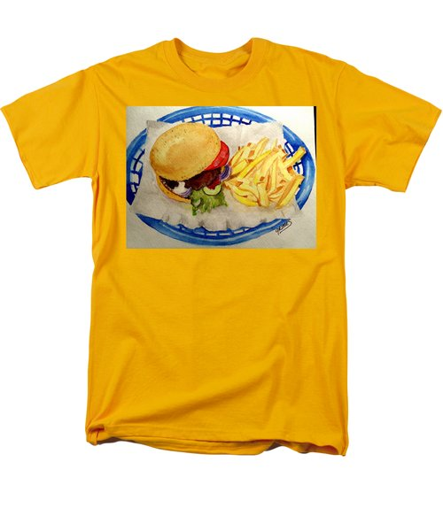 Hamburger Basket #2 Men's T-Shirt  (Regular Fit) by Carol Grimes