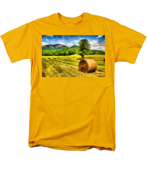 Men's T-Shirt  (Regular Fit) featuring the painting Harvest At Table Rock by Lynne Jenkins