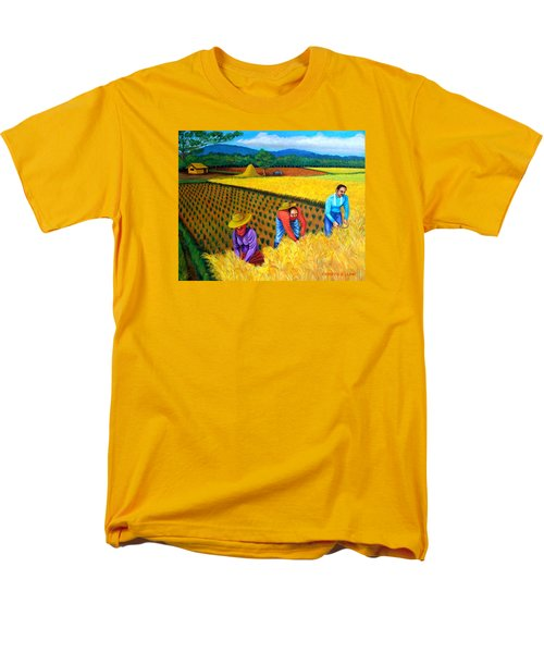Men's T-Shirt  (Regular Fit) featuring the painting Harvest Season by Cyril Maza