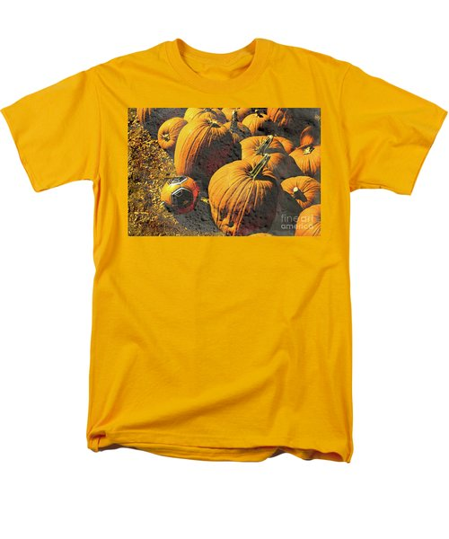 Hiding In Plain Pumpkin Men's T-Shirt  (Regular Fit) by Deborah Nakano