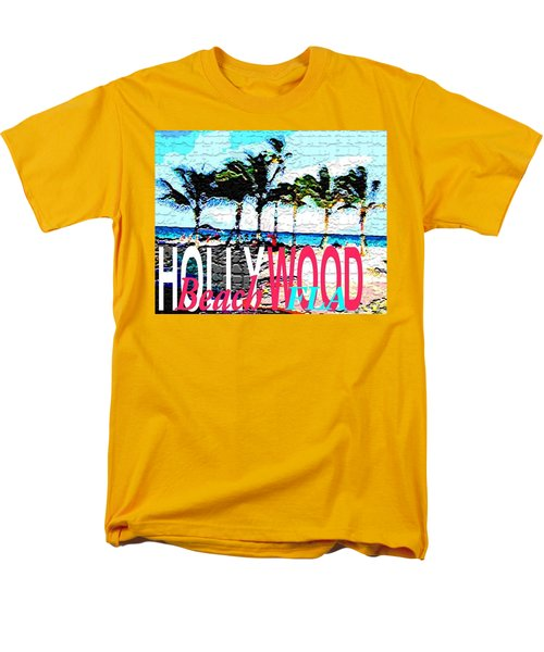 Hollywood Beach Fla Poster Men's T-Shirt  (Regular Fit) by Dick Sauer