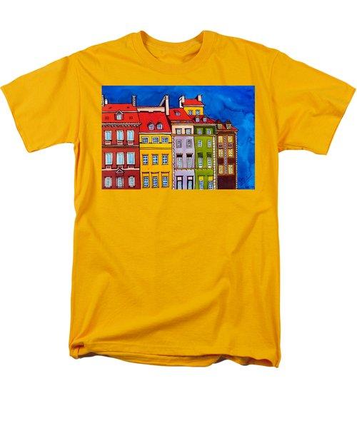 Houses In The Oldtown Of Warsaw Men's T-Shirt  (Regular Fit) by Dora Hathazi Mendes